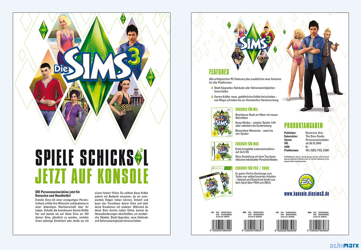 10 Onepager Sims3